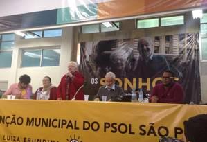 Luiza Erundina na convenção do PSOL Foto: Reprodução/Facebook