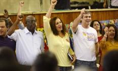 Jandira Feghali é oficializada como candidato do PCdoB à prefeitura do Rio Foto: Fernando Lemos / Agência O Globo