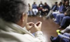 """Momento de reabilitação. Em Santo André, no ABC paulista, o programa """"E agora, José?"""", criado em 2014, tem como foco os autores de agressões contra as mulheres Foto: Edilson Dantas"""