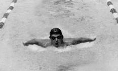 Djan Madruga quando era nadador. Ele ainda sonha com a prata em Moscou-1980 Foto: Arquivo/O Globo