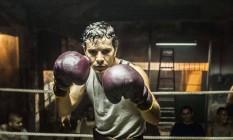 Set de gravação de '10 segundos', filme sobre o boxeador Éder Jofre, vivido por Daniel de Oliveira Foto: Divulgação
