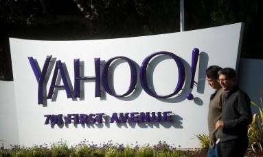 Sede do Yahoo em Sunnyvale, Califórnia Foto: Noah Berger / Bloomberg