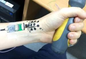 Dispositivo une nanotecnologia às tatuagens temporárias para crianças Foto: DIVULGAÇÃO