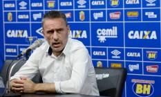 Paulo Bento foi demitido do Cruzeiro, que ocupa a penúltima colocação do Brasileiro Foto: Washington Alves / Light Press/Divulgação