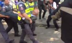 Ex-senador Eduardo Suplicy é detido em SP Foto: Reprodução