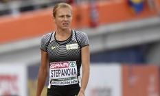 Yulia Stepanova quer participar dos Jogos Olímpicos do Rio como atleta independente, isto é, sem usar a bandeira da Rússia Foto: Geert Vanden Wijngaert / AP