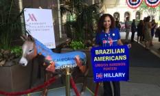 Isabel Santos é a única brasileira que atua como delegada na convenção democrata Foto: O Globo / Henrique Gomes Batista