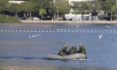 Lagoa Rodrigo de Freitas patrulhada por fuzileiros navais Foto: Pablo Jacob / O Globo