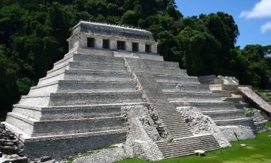 O Templo das Inscrições, em Palenque, no México Foto: Wikimedia