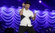 Justin Timberlake no Rock in Rio, em 2013 Foto: Ivo Gonzalez / Agência O Globo