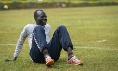 O corredor sudanês Yieche Biel faz parte do time de refugiados nas Olimpíadas Foto: Claire Thomas / Divulgação