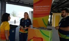 O posto de informações da Riotur na estação do BRT do Recreio Foto: Luiz Ernesto Magalhães / Agência O Globo