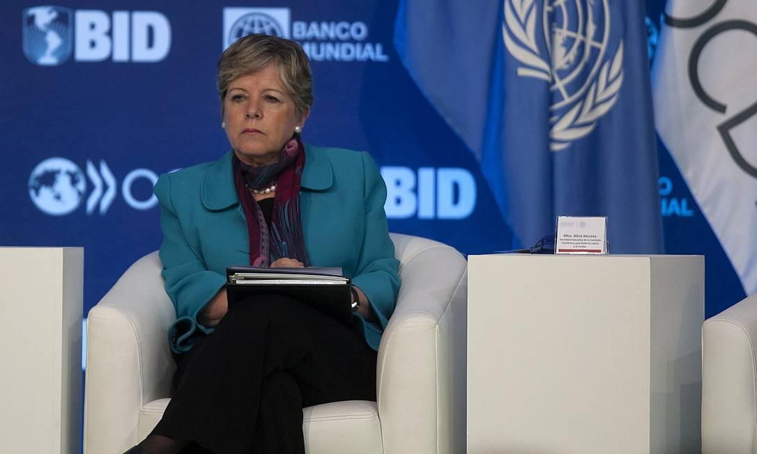 Alicia Bárcena, secretária executiva da Cepal Foto: Susana Gonzalez / Bloomberg