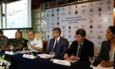Autoridades apresentam esquema de segurança para partidas de futebol da Rio 2016 em Salvador Foto: Sayonara Moreno / Agência Brasil