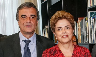 Dilma e o advogado dela, José Eduardo Cardozo Foto: Divulgação 21/07/2016