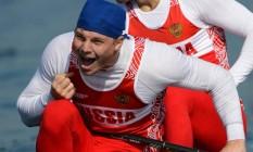 Alexey Korovashkov, bronze na canoagem C2 1000m em Londres-2012, perde direito de participar da Rio-2016 Foto: Francisco Leong / AFP
