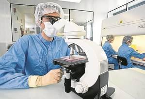 Área de desenvolvimento de vacinas do Sanofi-Pasteur, responsável pela Dengvaxia Foto: divulgação/sanofi-pasteur