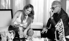 Jennifer Lopez e Giuseppe Zanotti Foto: Divulgação