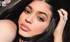 Kylie Jenner com as sombras Foto: Instagram