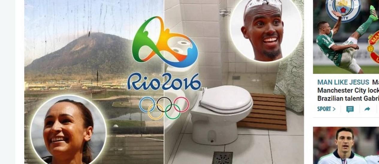 'Sun': delegação britânica terá reforço de encanadores na vila olímpica pobre' Foto: Reprodução