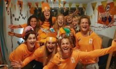 Fotos de Naomi van As com a equipe holandesadehóquei Foto: Reprodução Instagram