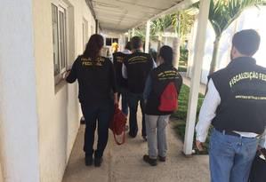 Ministério do Trabalho e Emprego realizou blitz na manhã desta quarta-feira Foto: Divulgação