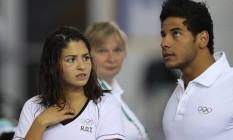 Yusra Mardini e Rami Anis nasceram na Síria e vão competir na Rio-2016 como refugiados Foto: Pedro Kirilos / Agência O Globo