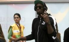 Velocista Jamaicano Usain Bolt desembarca no Aerporto Internacional do Rio / Tom Jobim para a Olmpíada Foto: Jorge William / Agência O Globo