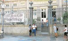 Estudantes do Colégio Estadual Amaro Cavalcanti, no Largo do Machado, poderão ter reposição de aulas perdidas durante recesso da Olimpíada Foto: Renan Almeida