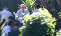 Cunha se despede da residência oficial com churrasco Foto: André Coelho / Agência O Globo