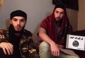 Terroristas que degolaram padre na Normandia Foto: Reprodução