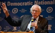 Bernie Sanders faz discurso nos EUA Foto: JEFF J MITCHELL / AFP