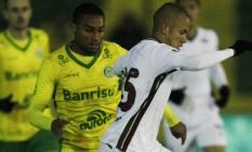 Marcos Júnior domina a bola na vitória do Fluminense sobre o Ypiranga em Erechim Foto: Itamar Aguiar / Agencia Freelancer
