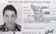 Abdel Malik Petitjean, em sua carteira de motorista Foto: Reprodução Internet