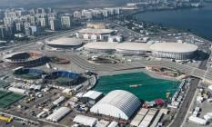 O parque olímpico do Rio de Janeiro. Para jornal inglês, esta edição dos Jogos já são marcadas pela bagunça Foto: YASUYOSHI CHIBA / AFP