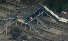 Estação de trem de Gramacho no início da manhã desta quinta-feira Foto: Reprodução TV Globo