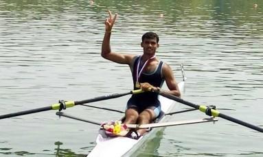 Dattu Bokhanal é o único remador da Índia classificado para o Rio-2016 Foto: Reprodução Facebook