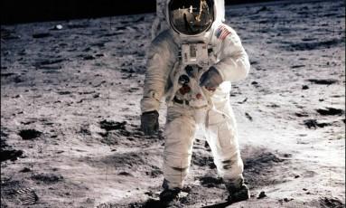 Astronauta do programa Apollo na Lua, em 1969 Foto: Divulgação/NASA