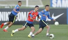 Treino da seleção brasileira no dia 27 Foto: ANTONIO SCORZA / O Globo