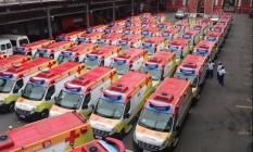 146 ambulâncias estarão disponíveis para o atendimento aos torcedores durante os Jogos Olímpicos e Paralímpicos Rio 2016 Foto: Luis Guilherme Julião