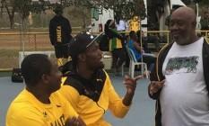 Bolt treina em complexo da Marinha na Avenida Brasil Foto: Instagram / Reprodução
