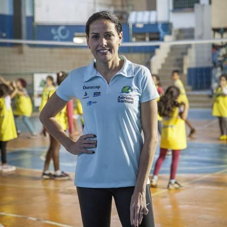 A medalhista olímpica Adriana Samuel tem projeto desde 2004 Foto: Agência O Globo / Analice Paron