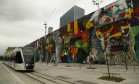 """Painel """"Etnias"""", do muralisa Eduardo Kobra, na Zona Portuária Foto: Gabriel de Paiva / Agência O Globo"""
