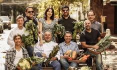 Chefs e proprietários de restaurantes participantes do festival Foto: Guilherme Leporace