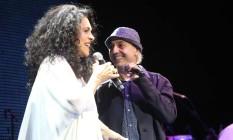 Vozes. Gal faz duo com Zeca Baleiro no show que passou por quatro capitais Foto: DUDU LEAL / Divulgação