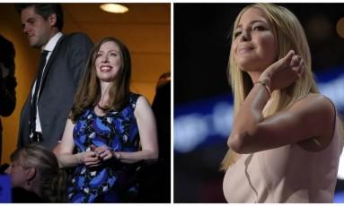 Montagem coloca Chelsea Clinton e Ivanka Trump lado a lado Foto: REUTERS