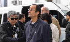 Marcelo Odebrecht ao ser preso pela Lava-Jato, em junho de 2015: o empresário foi um dos que citou nomes de políticos ao negociar acordo de delação Foto: Geraldo Bubniak / Agência O Globo 20-06-2015