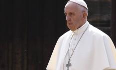 Papa Francisco visita campo de concentraçao de Auschwitz no terceiro dia de visita à Polônia Foto: KACPER PEMPEL / REUTERS