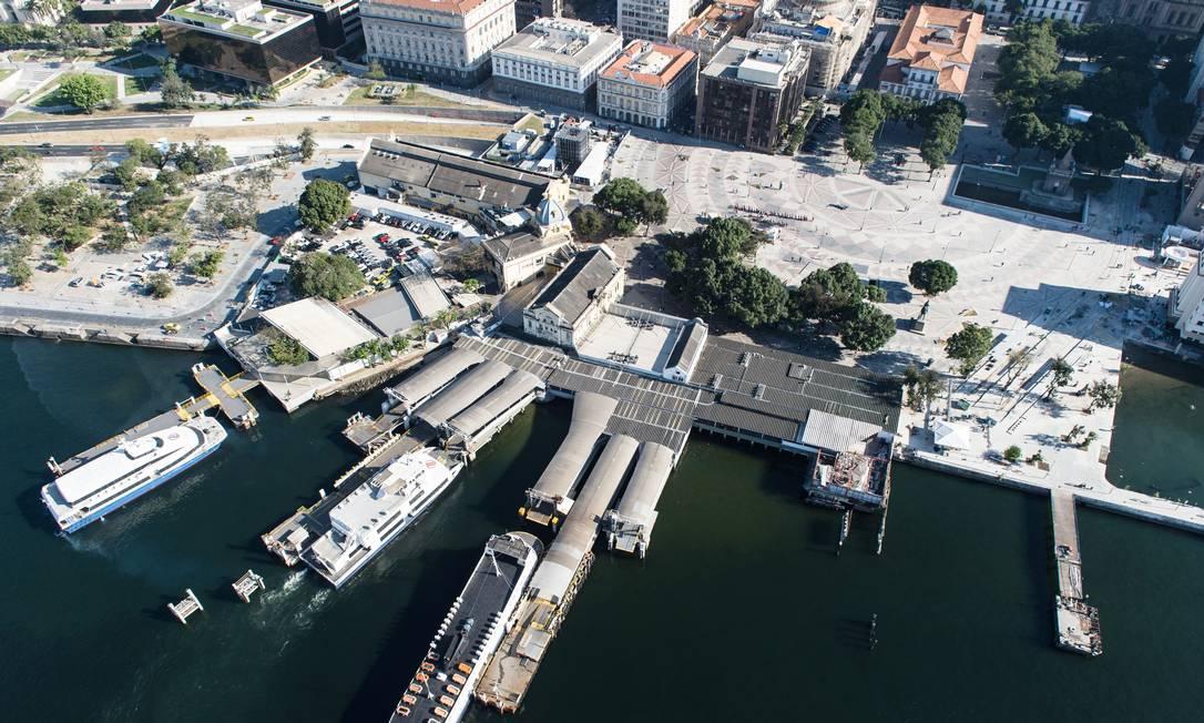 Imagens aéreas da Praça XV, no Centro YASUYOSHI CHIBA / AFP