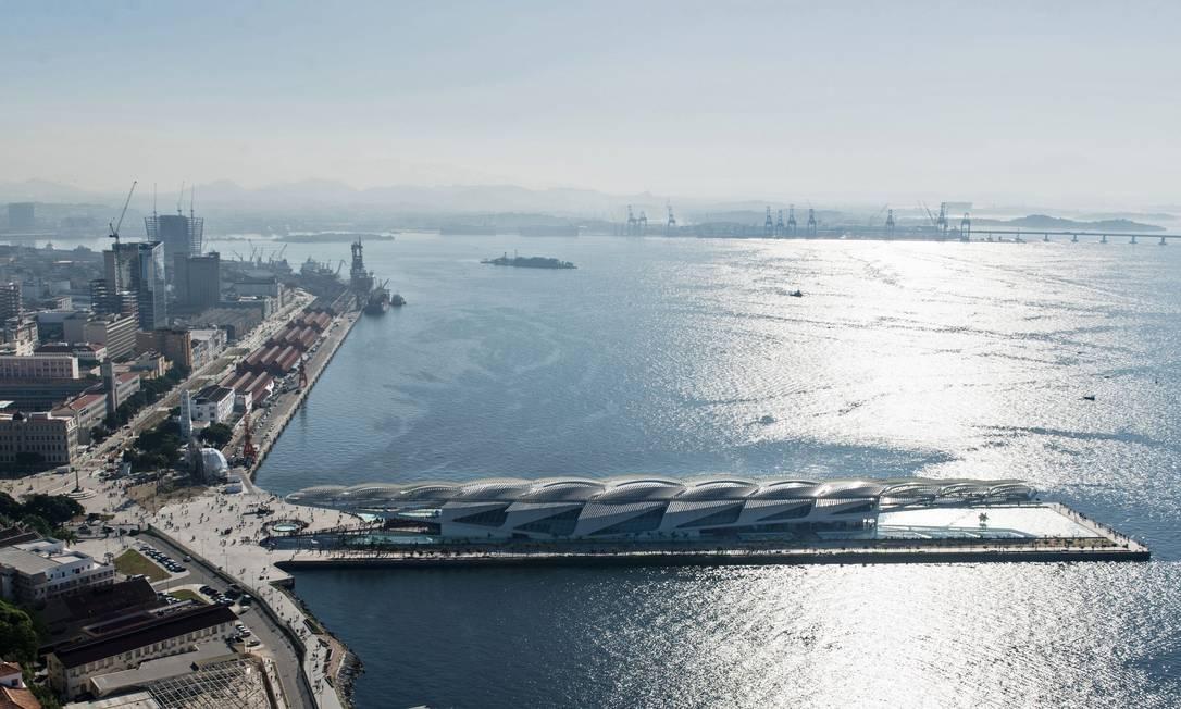 O boulevard olímpico e o Museu do Amanhã, no Centro YASUYOSHI CHIBA / AFP